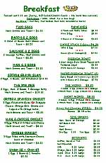 VLR Lodge Menu